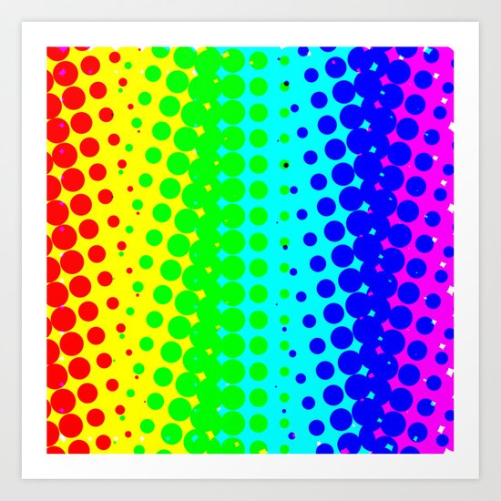 RAINBOW COLOR DOT Art Print