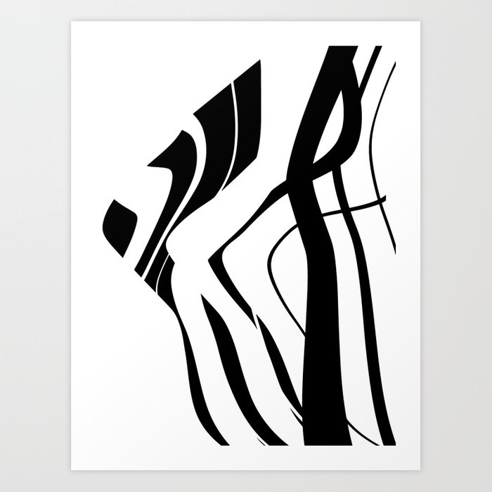 Organic no 4 black white design society6 artprints art print