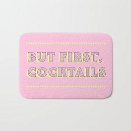 Pastel Pink Party Cocktails Bath Mat