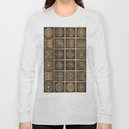 Copper Mandala Quilt Long Sleeve T-shirt