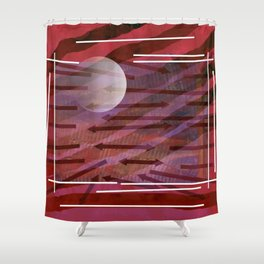 Direction and planet Shower Curtain