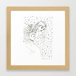 sleeping among the stars Framed Art Print