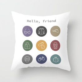 Hello, friend - Mr. Robot Throw Pillow