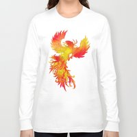 phoenix Long Sleeve T-shirts featuring Phoenix by Paula Belle Flores