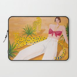 Girl and Panthers in Palm Desert Laptop Sleeve