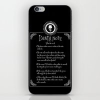 death note iPhone & iPod Skins featuring Death Note Rules by sgrunfo