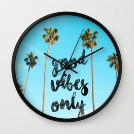 Good LA Vibes Only #society6 #lifestyle Wall Clock