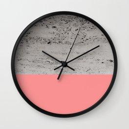 Light Coral on Concrete #2 #decor #art #society6 Wall Clock