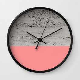 Light Coral on Concrete #2 #decor #art #society6 Wall Clock