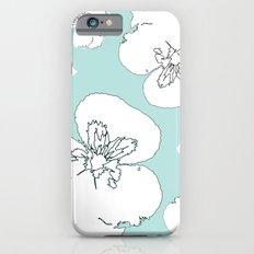 Green Pansies Slim Case iPhone 6s