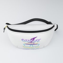 Wizard Lover Geek Life Like Normal Life with Wizards Fanny Pack
