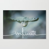 infinite Canvas Prints featuring Infinite by Galaxy Eyes