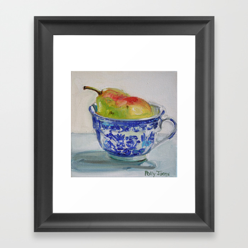 A Cup Of Pear Framed Art Print by Pollyjones FRM2926738