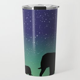 Elephant Silhouettes  Travel Mug