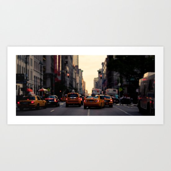 NYC Taxi   cinamtic Art Print