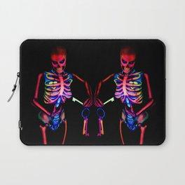 Black Light Skeleton  Laptop Sleeve