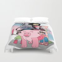 steven universe Duvet Covers featuring Steven Universe by Laura Pulido