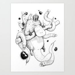 King Platypus Art Print