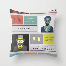 Django Unchained Character Poster Throw Pillow