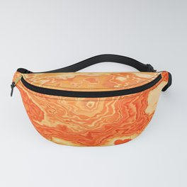 coral orange beige gold abstract marbled abstract digital painting Fanny Pack