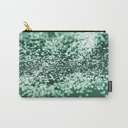 Sparkling EMERALD Green Lady Glitter #2 #shiny #decor #art #society6 Carry-All Pouch