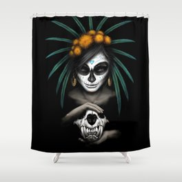 Voodo Dia De Los Muertos Day Of The Dead Sugar Ultra HD Shower Curtain