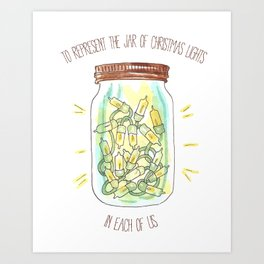 The Jar of Christmas Lights in Each of Us Art Print