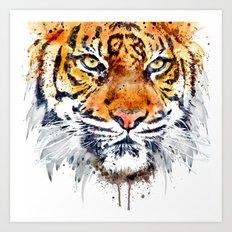 Tiger Face Close-up Art Print