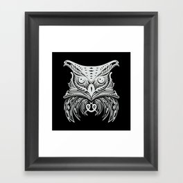 White Owl Framed Art Print