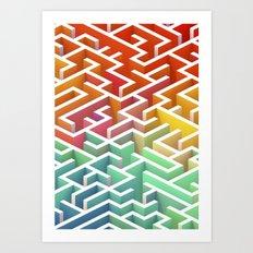 Labyrinth III Art Print