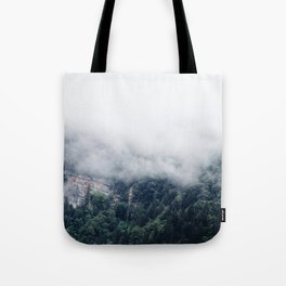 Among the Swiss Clouds Tote Bag