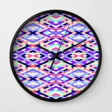 Smart Diagonals Coral Wall Clock
