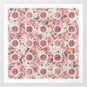 Double Happiness Symbol on Gentle Peony pattern by k9printart