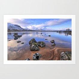 Rocking it on Rannoch Moor; Scottish highlands Art Print