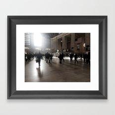 Early Morning, Grand Central Framed Art Print