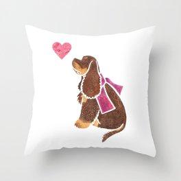 Watercolour American Cocker Spaniel Throw Pillow
