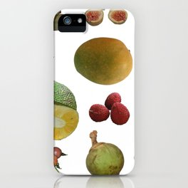 Exotic Fruit Collage iPhone Case