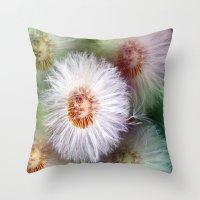 dandelion Throw Pillows featuring Dandelion by Laake-Photos