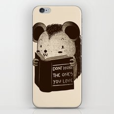 Hedgehog Book Don't Hurt The Ones You Love iPhone & iPod Skin