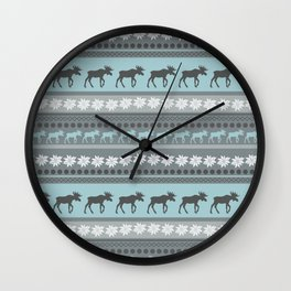 Moose Pattern Wall Clock