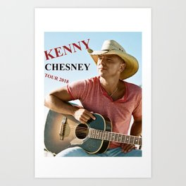 KENNY CHESNEY TOUR WORLD 2018 Art Print