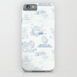 Alice in Wonderland Toile Blue iPhone Case