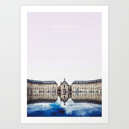 Bordeaux France Travel Art Art Print