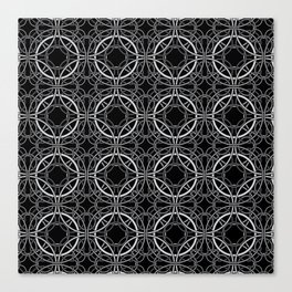 Rondo Black Canvas Print