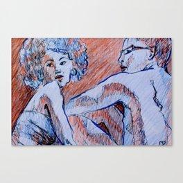 Over My Shoulder Canvas Print