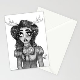 Victorian Fawn Stationery Cards