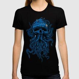 blue kraken skull T-shirt