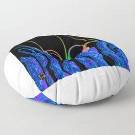 Glow drops colour Floor Pillow