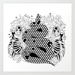 More bees with honey Art Print