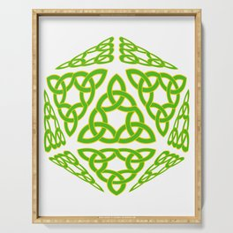 St Patrick's Day Celtic Triquetra D20 Serving Tray